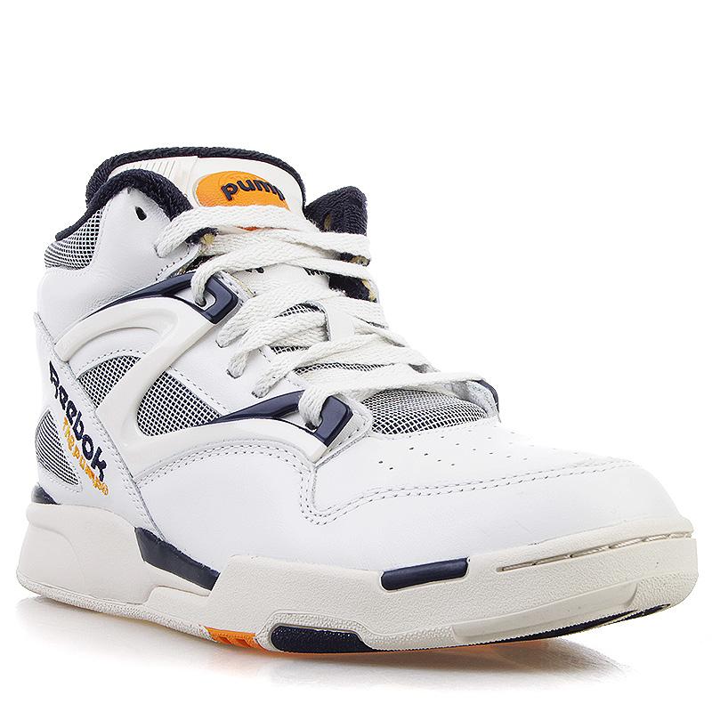 мужские белые, серые, синие, желтые  кроссовки reebok pump omni lite vintage V60184 - цена, описание, фото 1