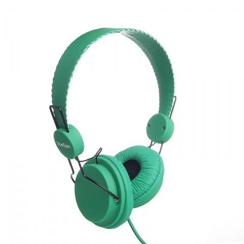 мужские зеленые  наушники headphone-green - цена, описание, фото 1