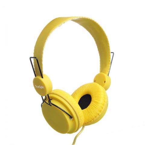 мужские желтые  наушники headphone-yellow - цена, описание, фото 1