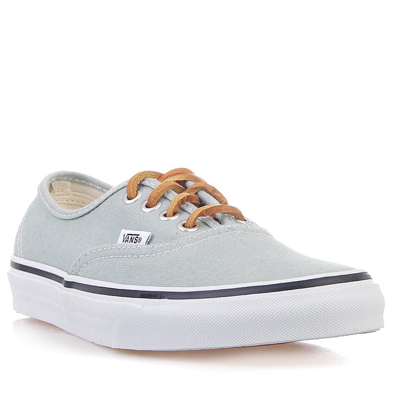 Купить мужские серые, белые  кроссовки vans u authentic в магазинах Streetball изображение - 1 картинки