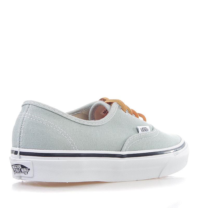Купить мужские серые, белые  кроссовки vans u authentic в магазинах Streetball изображение - 2 картинки