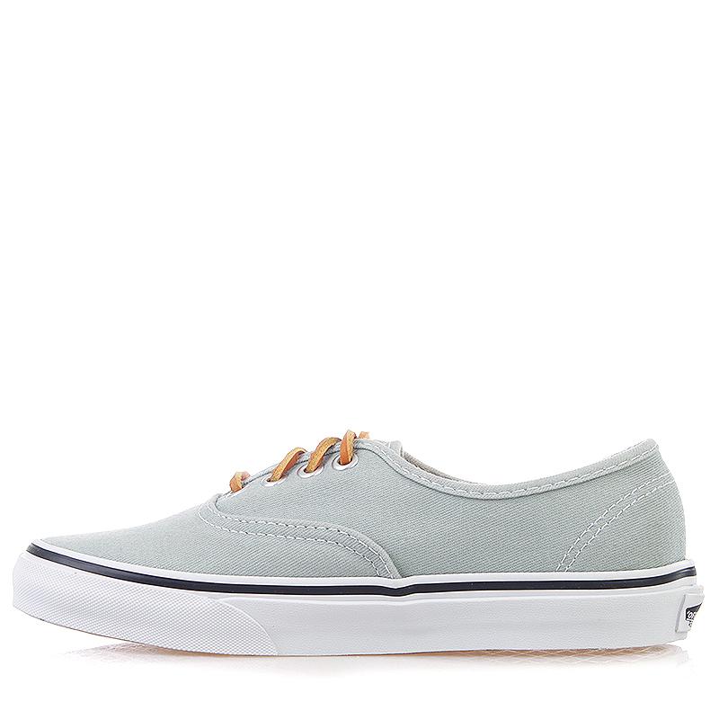 Купить мужские серые, белые  кроссовки vans u authentic в магазинах Streetball изображение - 3 картинки