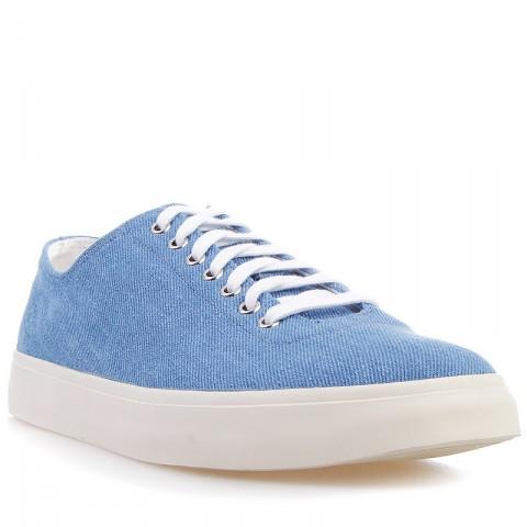 Купить мужские голубые, бежевые  кеды в магазинах Streetball - изображение 1 картинки