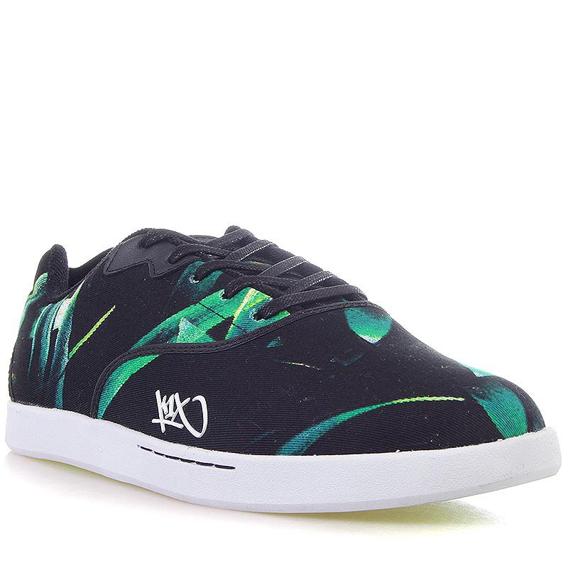 Кроссовки K1X CaliКроссовки lifestyle<br>текстиль, резина<br><br>Цвет: Черный, белый, зеленый<br>Размеры US: 11;12.5<br>Пол: Мужской