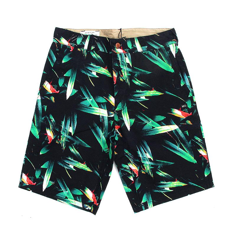 мужские черные, зеленые  шорты k1x oahu chino shorts 1400-0225/9036 - цена, описание, фото 1