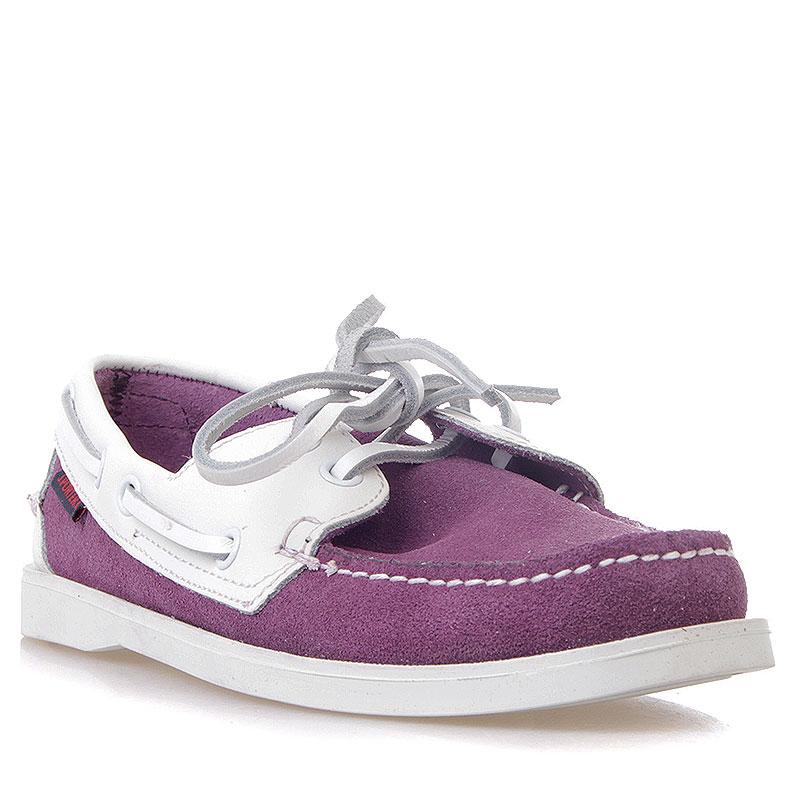 Купить женские фиолетовые, белые  топсайдеры  в магазинах Streetball изображение - 1 картинки