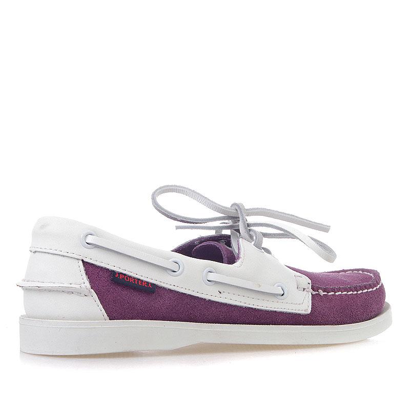 Купить женские фиолетовые, белые  топсайдеры  в магазинах Streetball изображение - 2 картинки