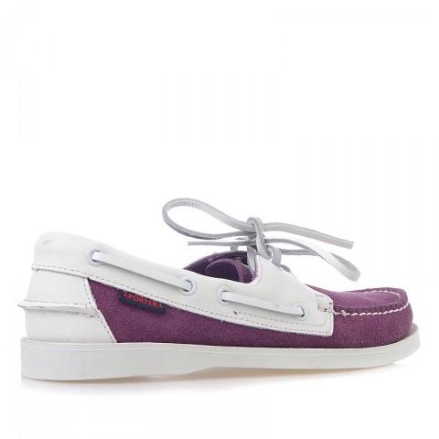 Купить женские фиолетовые, белые  топсайдеры  в магазинах Streetball - изображение 2 картинки