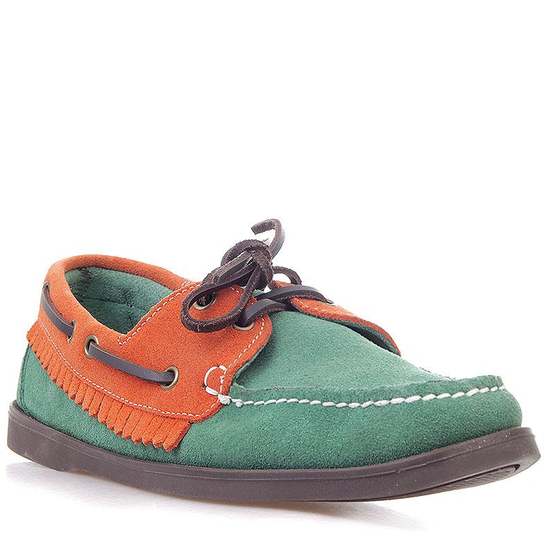 мужские зеленые, оранжевые  топсайдеры R13W-012-m - цена, описание, фото 1