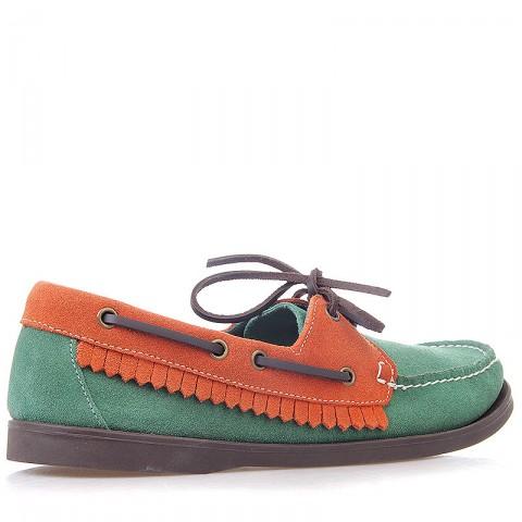 мужские зеленые, оранжевые  топсайдеры R13W-012-m - цена, описание, фото 2