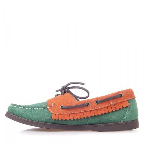 мужские зеленые, оранжевые  топсайдеры R13W-012-m - цена, описание, фото 3