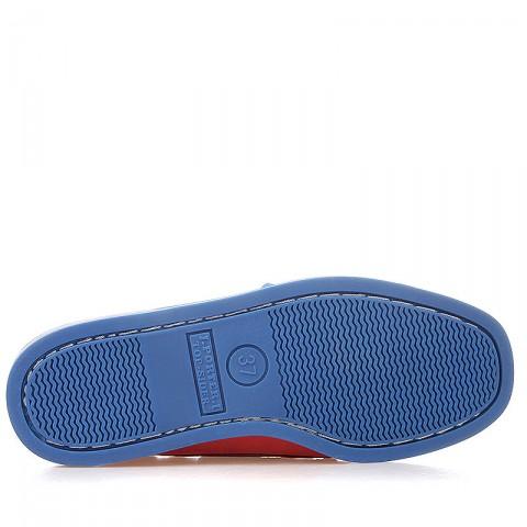 женские оранжевые, синие  топсайдеры R13W-023-m - цена, описание, фото 4