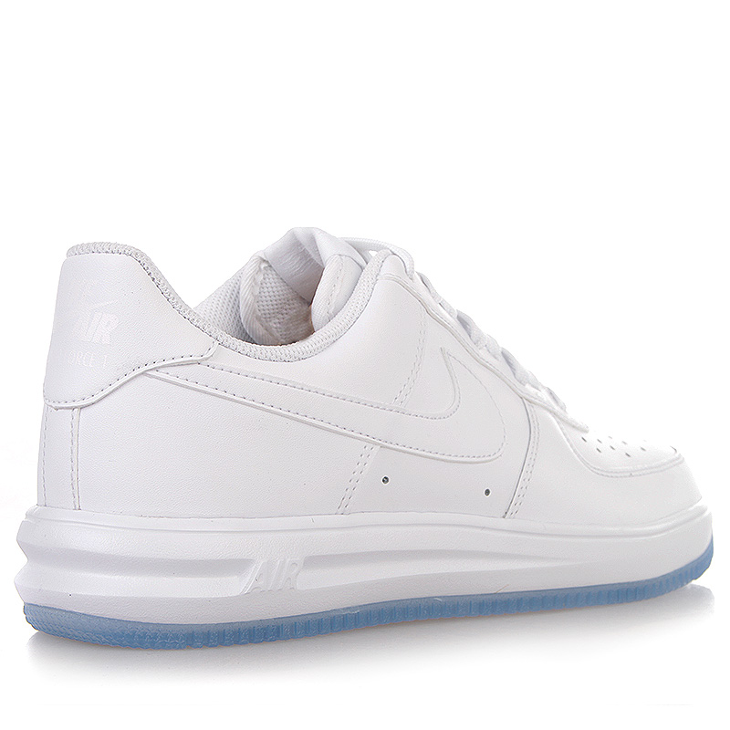 Купить мужские белые  кроссовки nike lunar force 1 '14 в магазинах Streetball изображение - 2 картинки