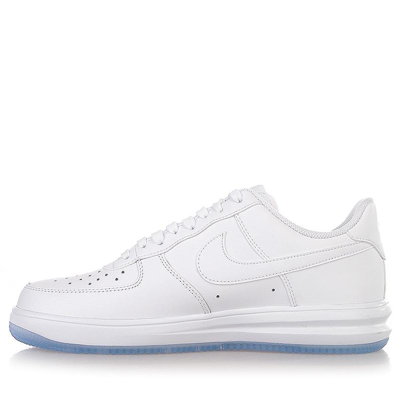 Купить мужские белые  кроссовки nike lunar force 1 '14 в магазинах Streetball изображение - 3 картинки