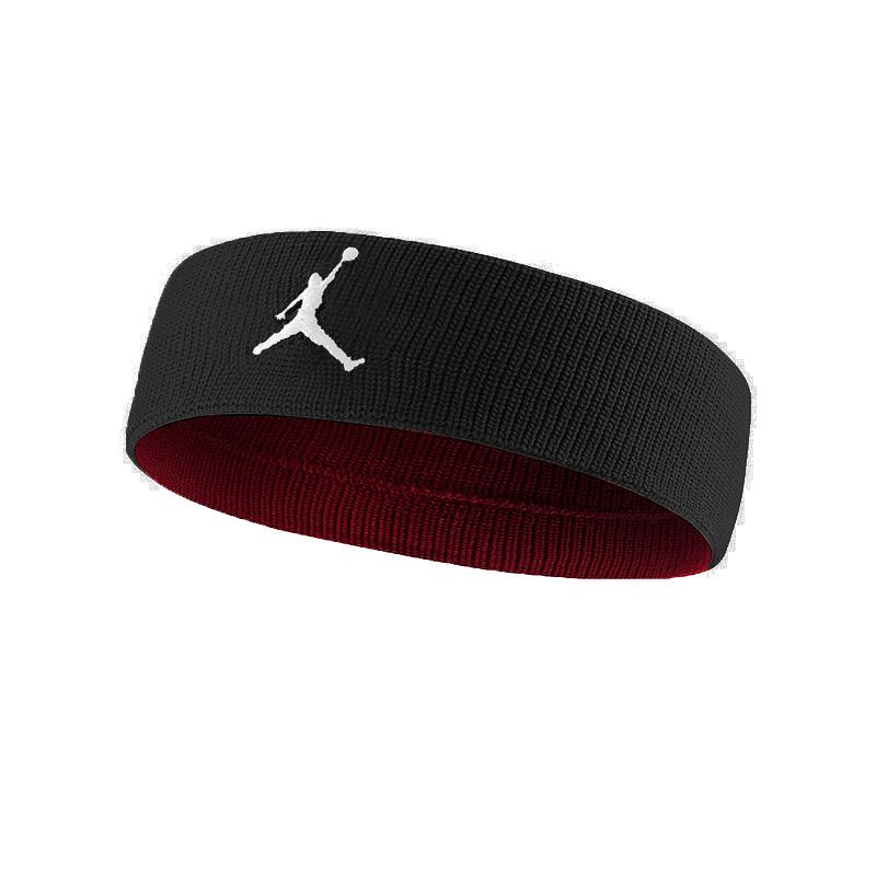 Повязка на голову Jordan Jumpman HeadbandПовязки<br>нейлон, полиэстер, эластан<br><br>Цвет: Черный, красный<br>Размеры US: 1SIZE<br>Пол: Мужской