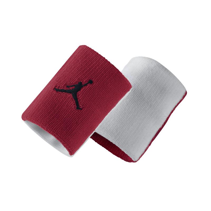 Повязка на руку Jordan Jumpman WristbandПовязки<br>нейлон, резина, эластан<br><br>Цвет: Красный, белый<br>Размеры US: 1SIZE<br>Пол: Мужской