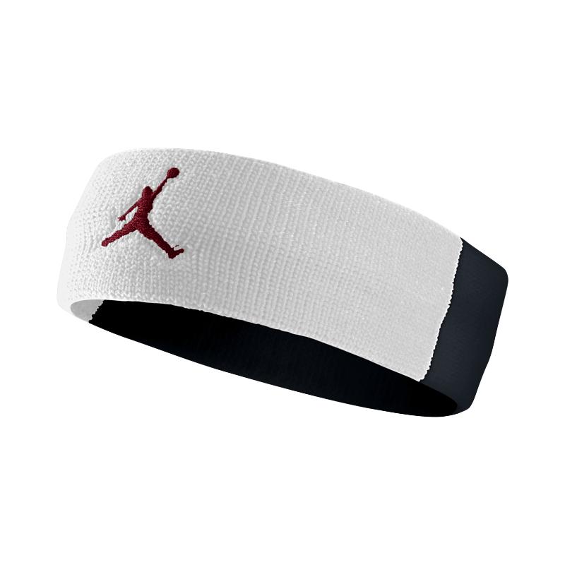 Повязка на голову Jordan Jumpman HeadbandПовязки<br>нейлон, полиэстер, эластан<br><br>Цвет: Белый, черный, красный<br>Размеры US: 1SIZE<br>Пол: Мужской