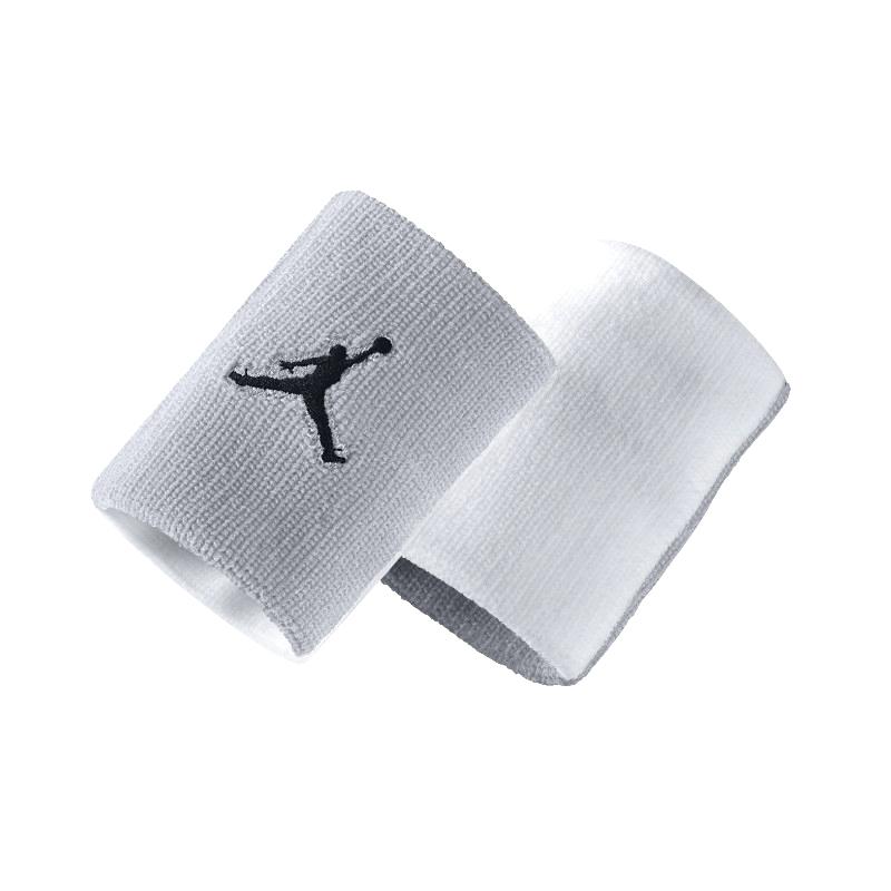 Повязка на руку Jordan Jumpman WristbandПовязки<br>нейлон<br><br>Цвет: Серый, белый<br>Размеры US: 1SIZE<br>Пол: Мужской