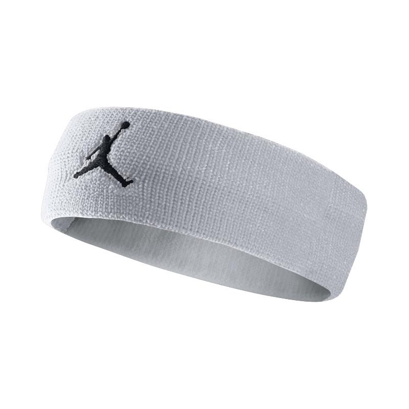 Повязка на голову Jordan Jumpman HeadbandПовязки<br>нейлон<br><br>Цвет: Серый, белый<br>Размеры US: 1SIZE<br>Пол: Мужской