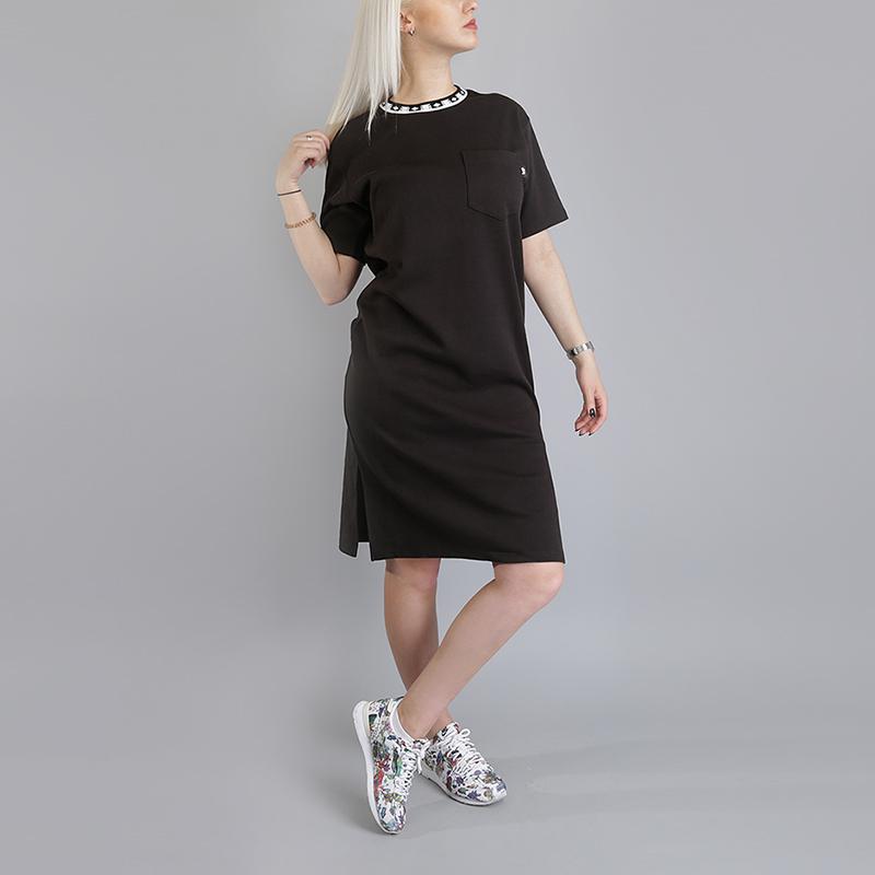 Платье Stussy Highland Jacquard Collar DressПлатья<br>100% хлопок<br><br>Цвет: Черный<br>Размеры US: XS;S;M;L<br>Пол: Женский