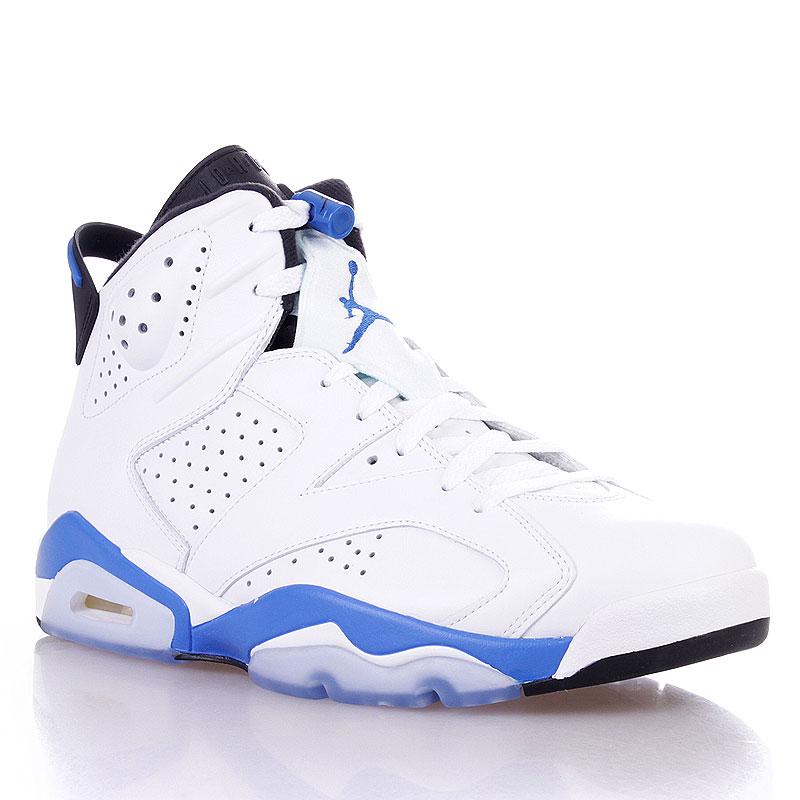Купить мужские белые  кроссовки air jordan 6 retro в магазинах Streetball изображение - 1 картинки