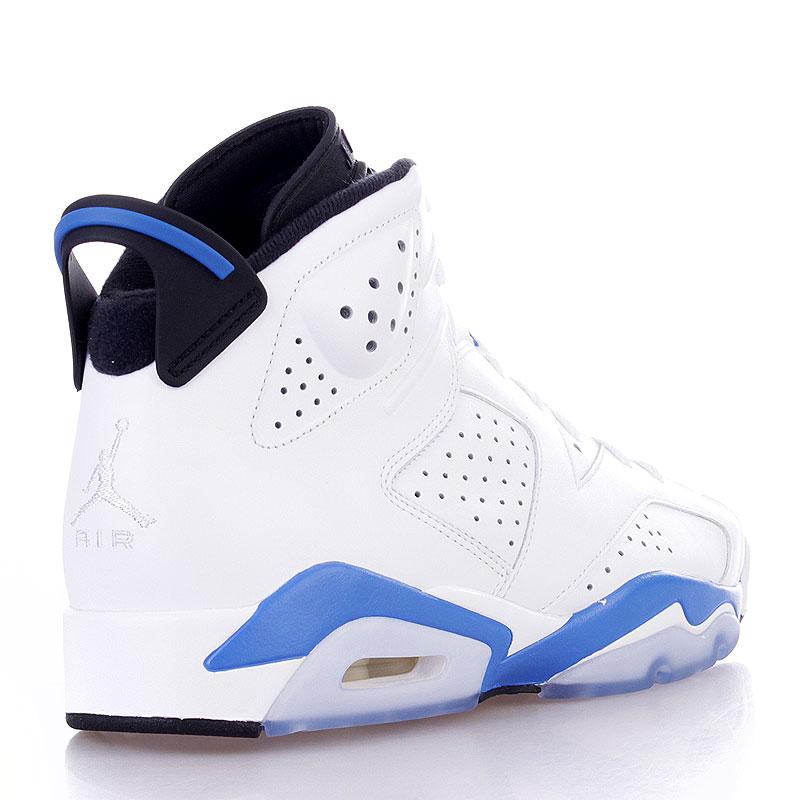 Купить мужские белые  кроссовки air jordan 6 retro в магазинах Streetball изображение - 2 картинки