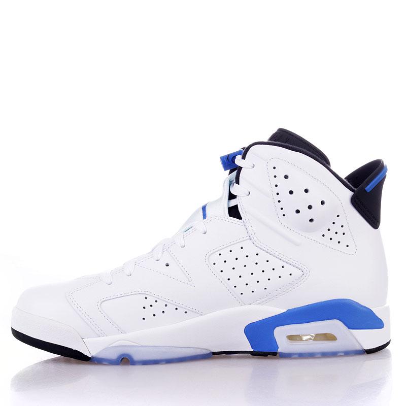 Купить мужские белые  кроссовки air jordan 6 retro в магазинах Streetball изображение - 3 картинки