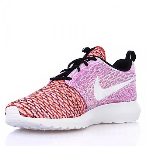 мужские белые, розовые, оранжевые  кроссовки nike flyknit roshe run nm qs multicolor 677243-100 - цена, описание, фото 4