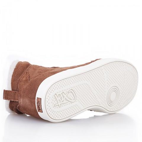 женские коричневые, белые  ботинки shorty h1top le 7911 6000-0010/7911 - цена, описание, фото 3