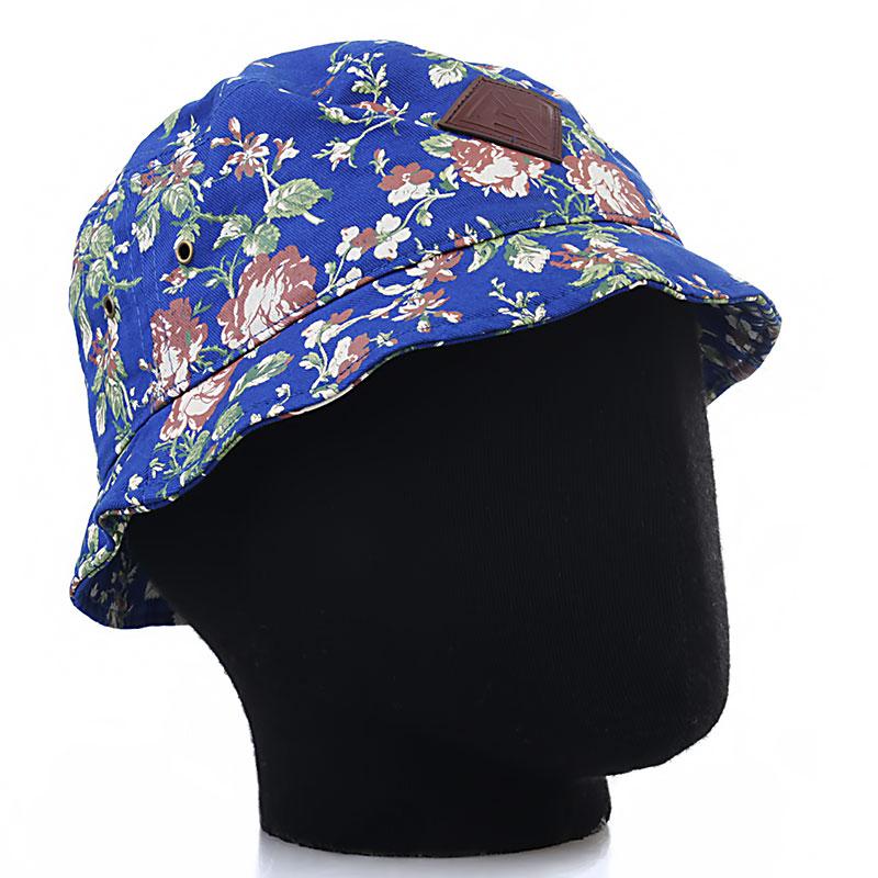 Панама Запорожец ЦветочкиКепки<br>Хлопок, иск. кожа<br><br>Цвет: Синий, белый, зеленый<br>Размеры : OS