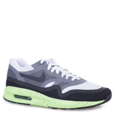 мужские черные, серые, белые, салатовые  кроссовки nike air max lunar1 654469-100 - цена, описание, фото 1