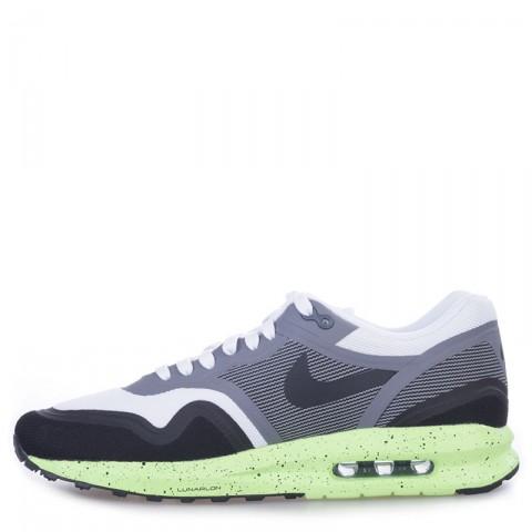мужские черные, серые, белые, салатовые  кроссовки nike air max lunar1 654469-100 - цена, описание, фото 3