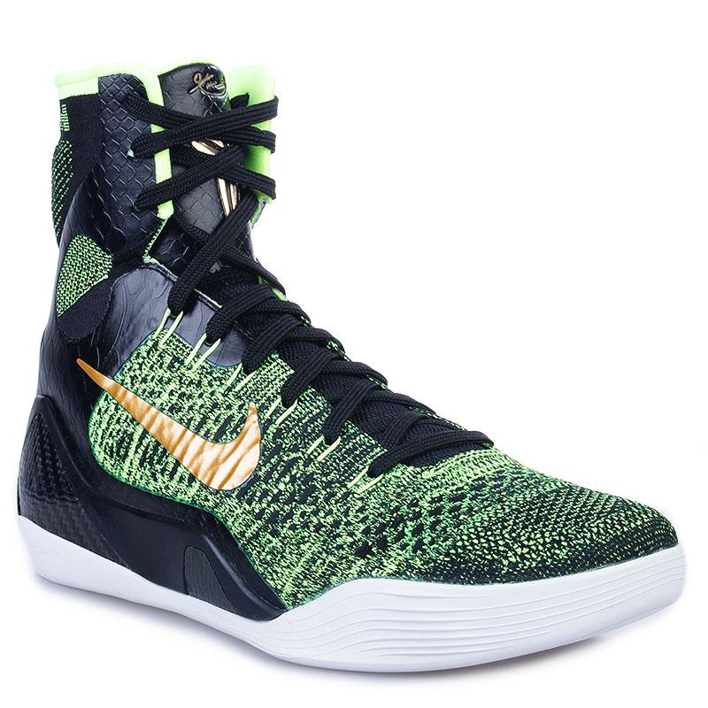 d19fb281 мужские черные, зеленые, белые кроссовки nike kobe 9 elite victory  630847-077 -