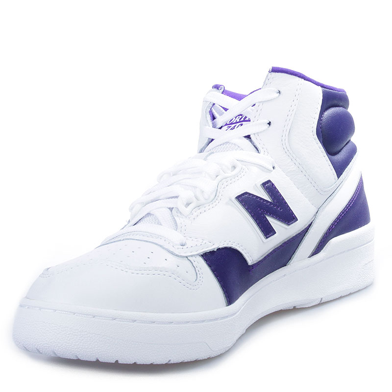 мужские белые, фиолетовые  кроссовки new balance p740la james worthy 'la' P740LA/D - цена, описание, фото 3