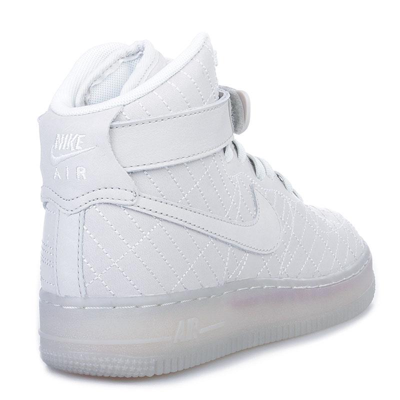 женские белые  кроссовки nike wmns air force 1 hi fw qs 704010-001 - цена, описание, фото 2