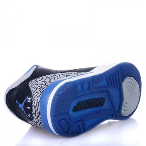 Купить детские черные, белые, синие  кроссовки air jordan 3 retro bg sport blue в магазинах Streetball - изображение 4 картинки