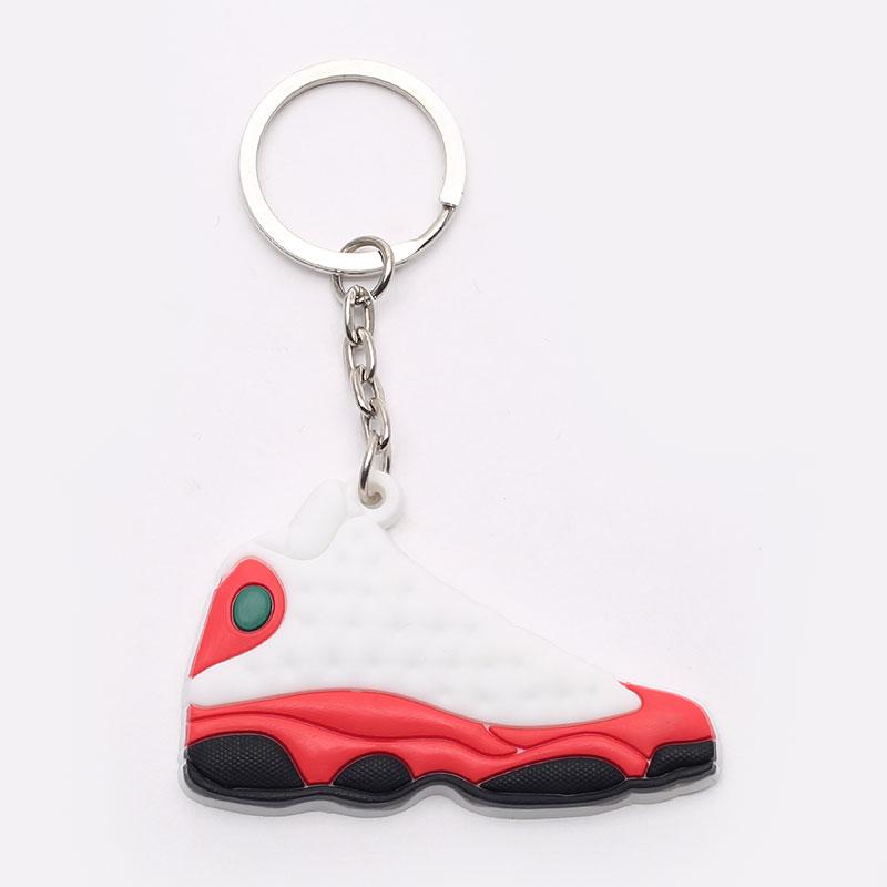 белый, красный  брелок jordan aj13 AJ13-white/red - цена, описание, фото 1