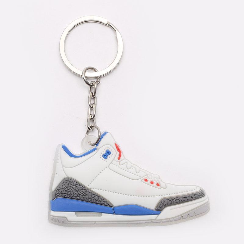 белый, голубой  брелок jordan aj3 AJ3-white/blue - цена, описание, фото 1
