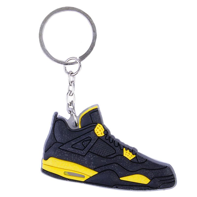 черный, желтый  брелок jordan aj4 AJ4-black/yellow - цена, описание, фото 1
