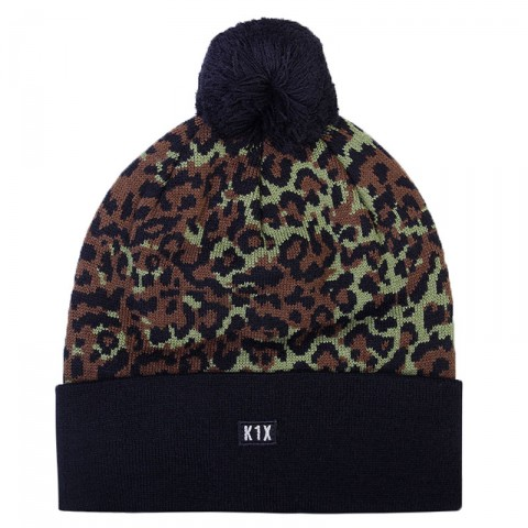 мужскую черную, зеленую, коричневую  шапка k1x leo bommel beanie 1800-0275/9908 - цена, описание, фото 1