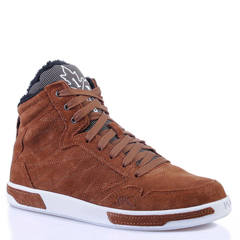 Ботинки K1X H1top LeКроссовки lifestyle<br>Замша, текстиль, резина<br><br>Цвет: Коричневый, белый<br>Размеры US: 8.5<br>Пол: Мужской