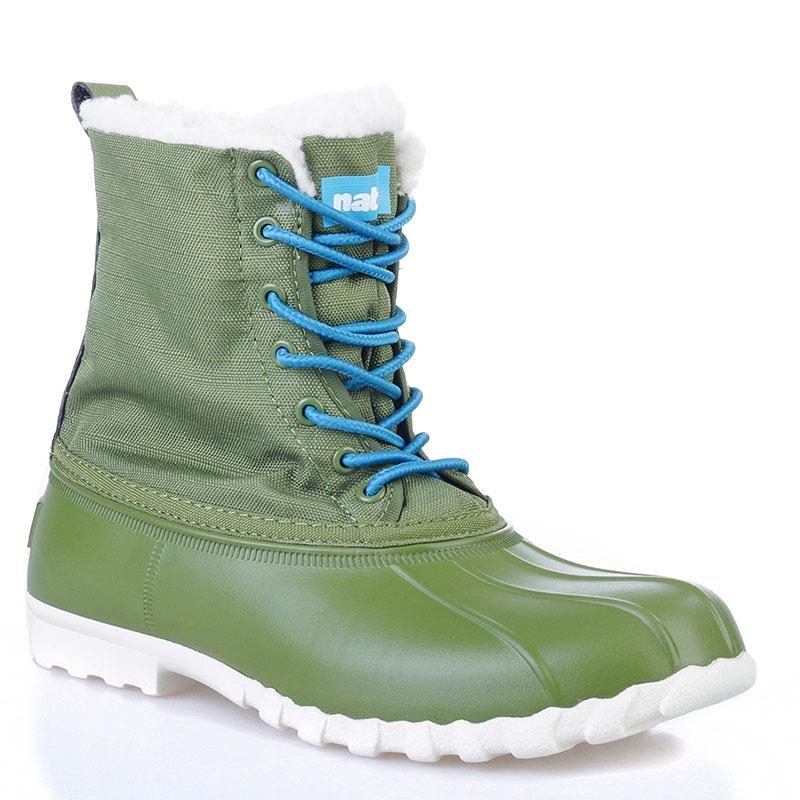 Сапоги Native JimmyСапоги<br>Синтетика, текстиль, резина<br><br>Цвет: Зеленый, белый<br>Размеры US: 4