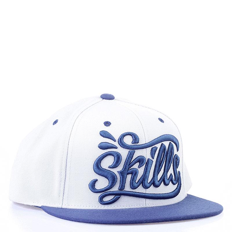Бейсболка SkillsКепки<br>80% акрил 20% шерсть<br><br>Цвет: Голубой, синий<br>Размеры : OS<br>Пол: Мужской