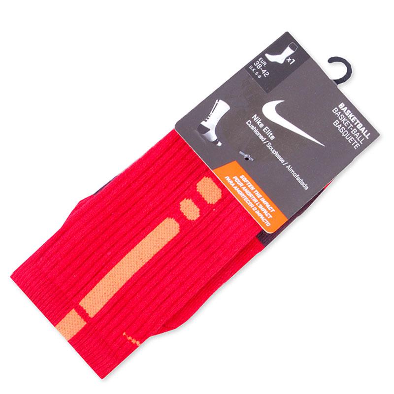 Носки Nike Elite BasketballНоски<br>текстиль<br><br>Цвет: Красный<br>Размеры US: S;L<br>Пол: Мужской