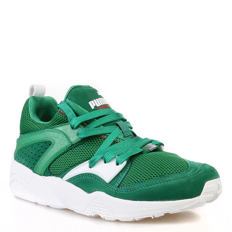 мужские зеленые, белые кроссовки puma trinomic blaze x green 35849001 -  цена, описание, 2827984bd1b