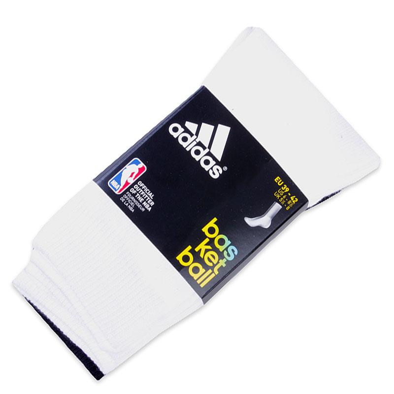 Носки AdidasНоски<br><br><br>Цвет: Белый, черный<br>Размеры UK: 31-34;35-38;43-46<br>Пол: Мужской