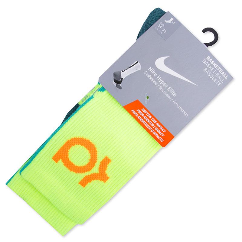 Носки Nike KD Hyper Elite Basketball CrewНоски<br><br><br>Цвет: Зеленый<br>Размеры US: M;L<br>Пол: Мужской