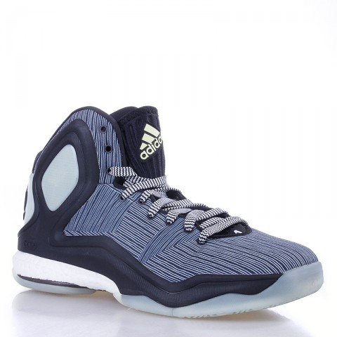 мужские черные, белые,серые  кроссовки adidas d rose 5 boost C76483 - цена, описание, фото 1