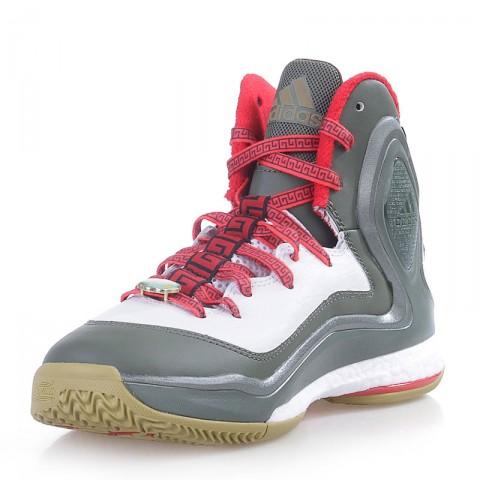 мужские белые,зеленые,красные  кроссовки adidas d rose 5 boost C76493 - цена, описание, фото 3
