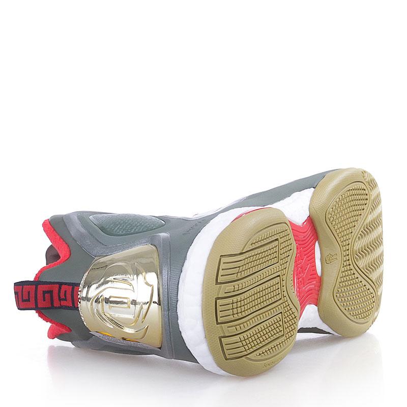 мужские белые,зеленые,красные  кроссовки adidas d rose 5 boost C76493 - цена, описание, фото 4